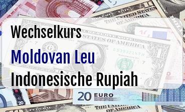 Moldovan Leu in Indonesische Rupiah