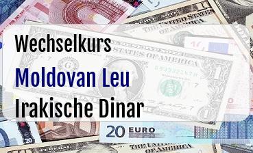 Moldovan Leu in Irakische Dinar