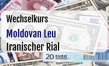 Moldovan Leu in Iranischer Rial