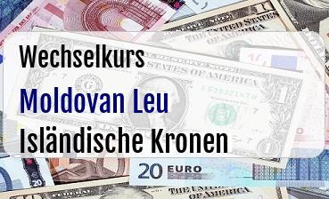 Moldovan Leu in Isländische Kronen