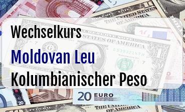 Moldovan Leu in Kolumbianischer Peso