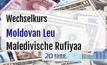 Moldovan Leu in Maledivische Rufiyaa