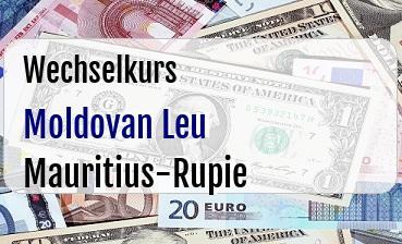 Moldovan Leu in Mauritius-Rupie