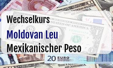 Moldovan Leu in Mexikanischer Peso