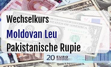 Moldovan Leu in Pakistanische Rupie
