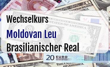 Moldovan Leu in Brasilianischer Real