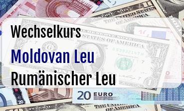 Moldovan Leu in Rumänischer Leu