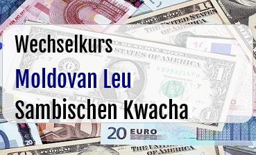 Moldovan Leu in Sambischen Kwacha