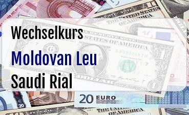 Moldovan Leu in Saudi Rial