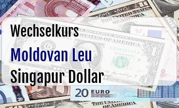 Moldovan Leu in Singapur Dollar
