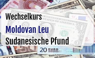 Moldovan Leu in Sudanesische Pfund