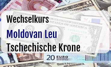 Moldovan Leu in Tschechische Krone