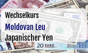 Moldovan Leu in Japanischer Yen