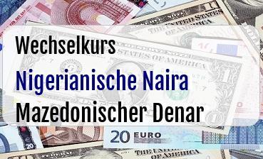 Nigerianische Naira in Mazedonischer Denar