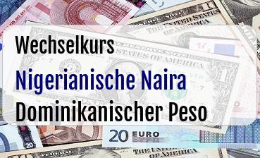 Nigerianische Naira in Dominikanischer Peso