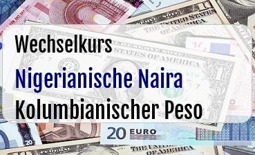 Nigerianische Naira in Kolumbianischer Peso