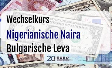 Nigerianische Naira in Bulgarische Leva