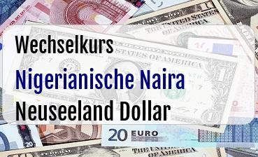 Nigerianische Naira in Neuseeland Dollar