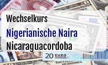 Nigerianische Naira in Nicaraguacordoba