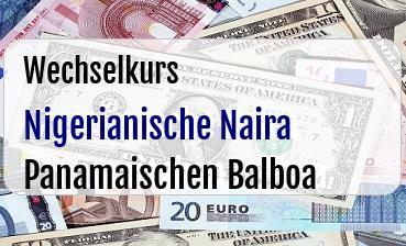 Nigerianische Naira in Panamaischen Balboa