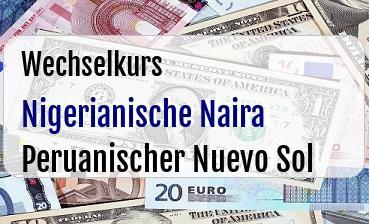 Nigerianische Naira in Peruanischer Nuevo Sol