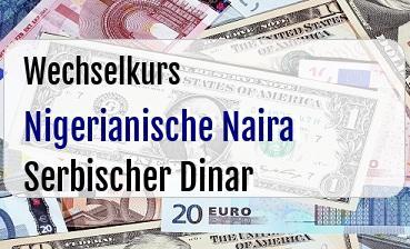 Nigerianische Naira in Serbischer Dinar