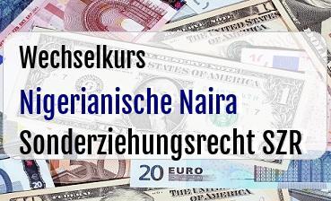 Nigerianische Naira in Sonderziehungsrecht SZR