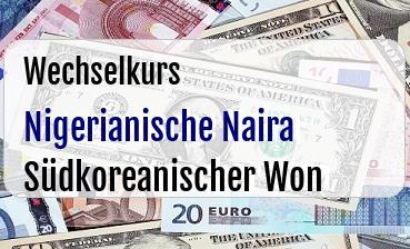Nigerianische Naira in Südkoreanischer Won
