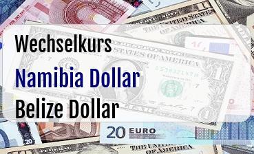Namibia Dollar in Belize Dollar