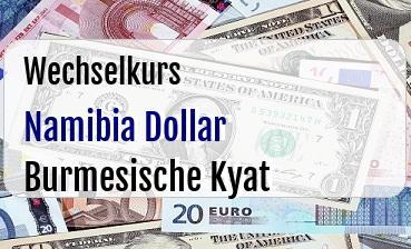 Namibia Dollar in Burmesische Kyat