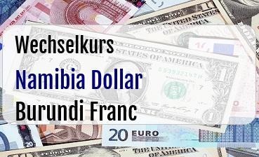 Namibia Dollar in Burundi Franc