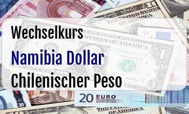 Namibia Dollar in Chilenischer Peso