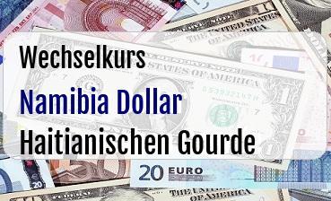 Namibia Dollar in Haitianischen Gourde