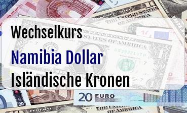 Namibia Dollar in Isländische Kronen