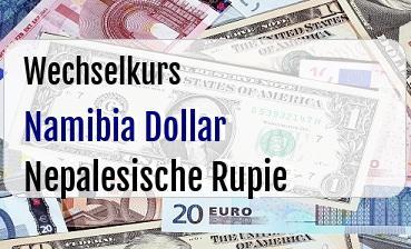 Namibia Dollar in Nepalesische Rupie