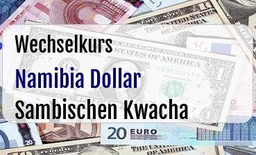 Namibia Dollar in Sambischen Kwacha