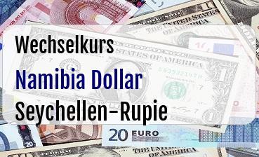 Namibia Dollar in Seychellen-Rupie