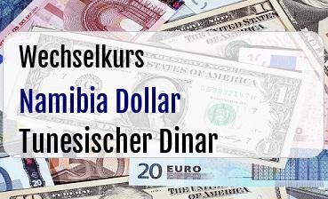 Namibia Dollar in Tunesischer Dinar