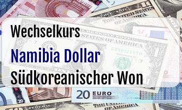Namibia Dollar in Südkoreanischer Won