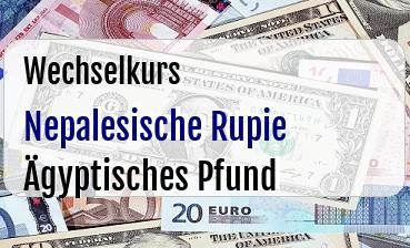 Nepalesische Rupie in Ägyptisches Pfund