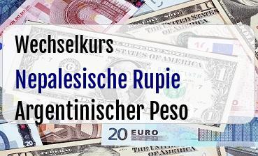 Nepalesische Rupie in Argentinischer Peso