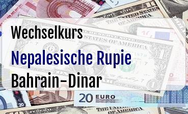 Nepalesische Rupie in Bahrain-Dinar
