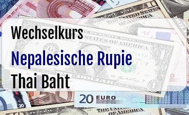 Nepalesische Rupie in Thai Baht