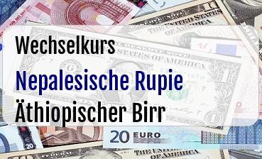 Nepalesische Rupie in Äthiopischer Birr