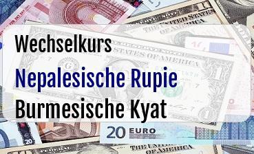 Nepalesische Rupie in Burmesische Kyat