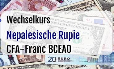 Nepalesische Rupie in CFA-Franc BCEAO