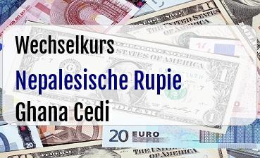 Nepalesische Rupie in Ghana Cedi