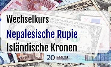 Nepalesische Rupie in Isländische Kronen