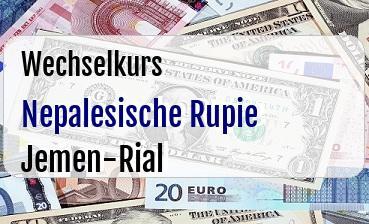 Nepalesische Rupie in Jemen-Rial
