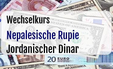 Nepalesische Rupie in Jordanischer Dinar